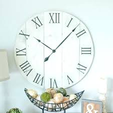 big white wall clocks big white clock in wall off oversized rustic within clocks decor 7