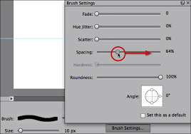Since a lot of dotted lines (such as splitters and borders in ui design) will be used in practical drawing, i would like to share here 4 dotted line the fourth one: Solid Dashed Dotted Lines In Photoshop Elements
