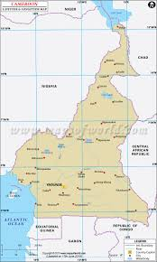 Cameroon Latitude And Longitude Map