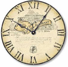 vintage style clock. Simple Style Item C1009 Vintage Style Antique French Letterhead Clock And I