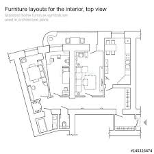 floor plan furniture symbols. Floor Plans Furniture Standard Home Symbols Set Used In Architecture Planning Icon . Plan