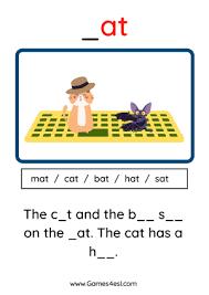 Cvc words in phonics section. Phonics Cvc Words Worksheets Games4esl