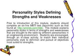 Individual Strengths Ppt Personality Styles Defining Strengths And Weaknesses