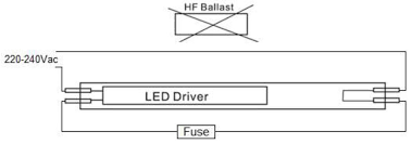 circuit diagram of fuse tube light circuit image 10w t8 g13 led tube 2ft cool white on circuit diagram of fuse tube light