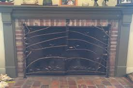 stainless steel fireplace screen awesome fireplace screen