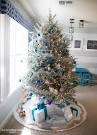 Silver And White Living Room A Turquoise Blue And Silver Christmas The Homes I Have Made