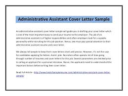 Free Cover Letter Administrative Assistant Sample The Critical