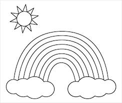 Sun Template Printable Sun Over Horizon Logo Template Vector Image Free And Moon