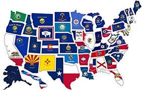 Amazoncom Rv State Sticker Travel Map 14 X 22 50 Usa