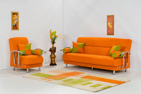Orange Rugs For Living Room Living Room Excellent Orange Living Room With Black Leather Sofa