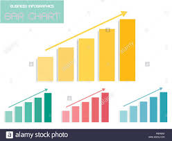 Business And Marketing Concepts Vector Set Of Bar Chart