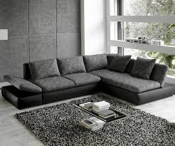 Sofa L Form Grau Weiss