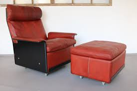 620 highback leather lounge chair ottoman by ter rams for vitsoe 1960s