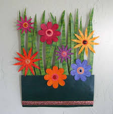 >hand crafted handmade upcycled metal flower garden wall art  custom made handmade upcycled metal flower garden wall art sculpture
