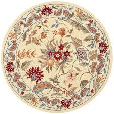safavieh chelsea ivory 3 ft x 3 ft round area rug