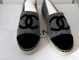 chanel espadrilles. chanel espadrilles tweed grey flats