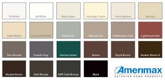 Aluminum Siding Colors Chart 78 Logical Gentek Aluminum Colors Chart