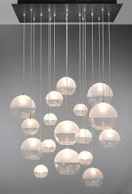 contemporary chandelier blown glass led custom breath milk
