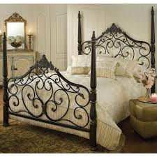 iron bedroom furniture. parkwood iron bed in black gold by hillsdale furniture constructed from heavy gauge fully welded tubular steel classic four poster design features intricate bedroom