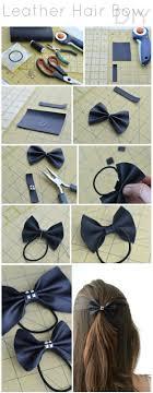 leather hair bow diy 17 diy bow clip