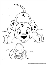 Small Picture 101 Dalmation Coloring Pages