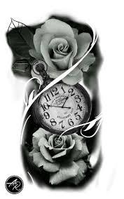Clock Drawing Tattoo Tatuagem De Relogio Clock идеи для