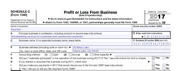Business Profit And Loss Statement Form Unique IRS Schedule C Instructions StepbyStep Including CEZ