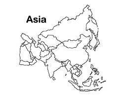Asia Continent Map Outline Rome Fontanacountryinn Com