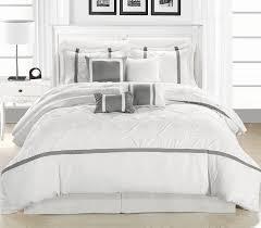 amazoncom chic home vermont piece comforter set whitesilver