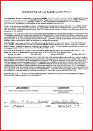 lawn care contract template assistant cover letter 6 lawn care contract template