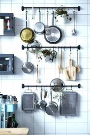 hanging pans on wall the easy to add super stylish storage solution every kitchen needs pots hanging pans on wall