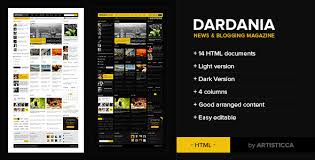 Newspaper Html Template Dardania News Blog Html By Artisticca Themeforest