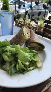 un salad wrap at garden grille cafe in pawtucket