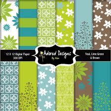 (Teal Blue, Brown, Lime Green) color scheme for boys room