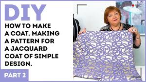 How To Design A Coat Diy How To Make A Coat Making A Pattern For A Jacquard Coat Of Simple Design