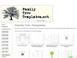 4 Generation Family Tree Template Free Free Printable Family Tree