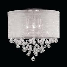 drum light chandelier drum round shade 4 lamp flush mount crystal ceiling light chandelier x h drum light chandelier