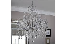 spa vela 9 light bathroom chandelier crystals in box 60mm diameter x 500mm tall boxed