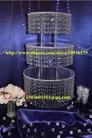 acrylic crystal chandelier wedding round cake stand 3 tier dessert stand centerpieces d 16 12 8 tier crystal chandelier cake stand wedding round dessert