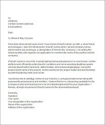 Best Solutions of Sample College Reference Letter Friend Also Resume Sample