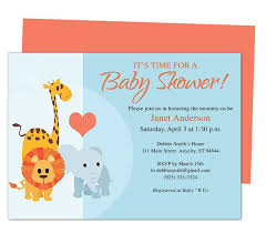 Invite Templates For Word Gorgeous Animals Cute Printable DIY Baby Shower Invite Templates Edits With