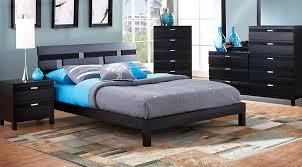 Gardenia Black 7 Pc Queen Platform Bedroom Queen Bedroom Sets Black