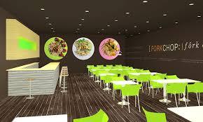 Interior Design, Forkchop Restaurant, James Tsai, Academy of Art University