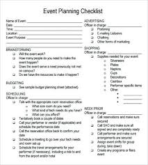 Event Planning Template Free Documents In Word Checklist Excel ...