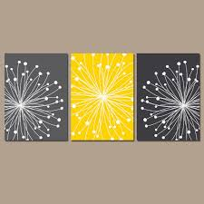 dandelion wall art canvas or prints gray yellow bedroom pictures