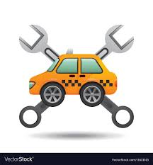 Automotive Design Tools Car Taxi Tools Repair Icon Design