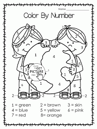 earth day printable worksheets for kindergarten with color by number coloring page kids imggif bartering for basics 5th grade reading comprehension worksheet on free excel worksheet