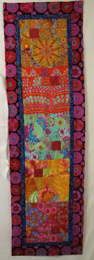 147 best Quilts Kaffe Fassett images on Pinterest | Jellyroll ... & Table runner by Marty Mason at Marty's Fiber Musings. Kaffe Fassett fabric  and a Cozy Adamdwight.com