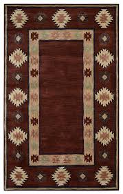 rizzy home southwest 12 x 15 area rug burdy tan rust