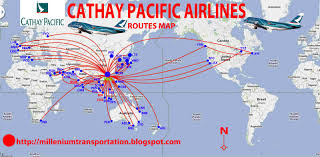 civil aviation cathay pasific airways routes map